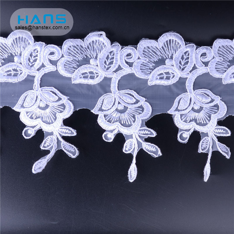 Hans Wholesaler Custom Colorful Glitter Lace