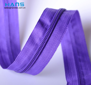 Hans Amazon Hot Sale Premium Quality Nylon Zipper by The Yard