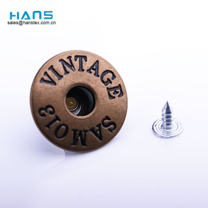 Hans Fashion Custom Jeans color botones y remaches