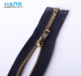 Hans ODM / OEM Diseño de calidad superior Open End Metal Zipper
